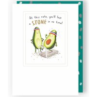 'Second Nature Blank Card - Avocados On Treadmill