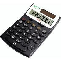 Aurora Black/White 12-Digit Desk Calculator EC505