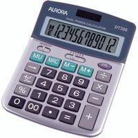 Aurora Silver/Grey 12-Digit Semi-Desk Calculator DT398