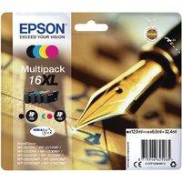 Image of Epson 16XL Black Cyan Magenta Yellow Ink Cartridges (4 Pack) C13T16364012