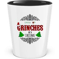 Drink up Grinches · Schnapsglas zweifarbig