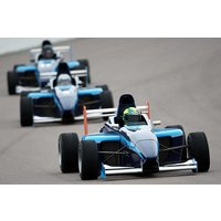 Single Seater Racing Car Driving Picture