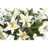 White Elegance Longi Lily Bouquet