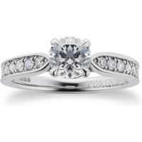 shop for Boscobel Platinum 0.96cttw Diamond Engagement Ring at Shopo