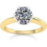 Image of Hermione 18ct Yellow Gold 0.25ct Diamond Engagement Ring