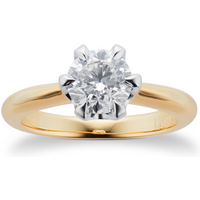 shop for Mappin & Webb Hermione 18ct Yellow Gold 1.00ct Diamond Engagement Ring at Shopo