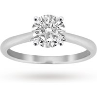 shop for Brilliant Cut 0.70 Carat Solitaire Ring in Platinum - Ring Size L at Shopo