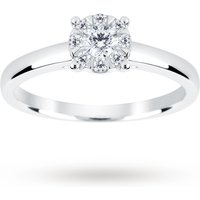 9ct White Gold 0.25 Carat Total Weight Diamond Multi Stone Ring - Ring Size M