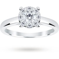 Image of 18ct White Gold 0.50 Carat Total Weight Diamond Multi Stone Ring - Ring Size N