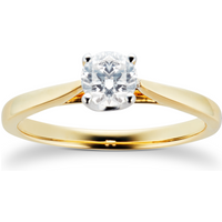 shop for 18ct Yellow Gold Brilliant Cut 0.40 Carat 88 Facet Diamond Ring - Ring Size M at Shopo