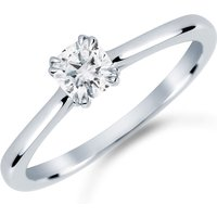 shop for Platinum 0.50 Carat Diamond Plain Shoulder Engagement Ring at Shopo
