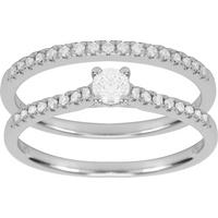 9ct White Gold 0.50ct Diamond Bridal Set - Ring Size M