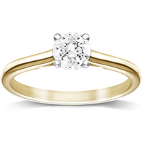 Image of 18ct Yellow Gold 0.50ct Brilliant Cut Diamond Solitaire Ring - Ring Size P