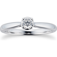 9ct White Gold 0.20ct Diamond Illusion Ring - Ring Size N
