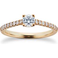 9ct White Gold 0.50cttw Diamond Ring - Ring Size N