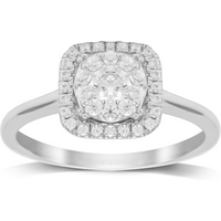 shop for 18ct White Gold 0.50ct Diamond Touch Set Ring - Ring Size K at Shopo