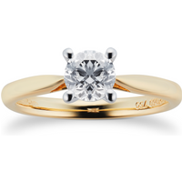 18ct Yellow Gold Brilliant Cut 0.70ct Solitaire Diamond Ring - Ring Size O