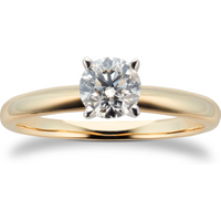 18ct Yellow Gold 0.72ct Diamond Solitaire Ring - Ring Size P