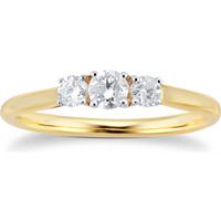 9ct Yellow Gold 0.25cttw Three Stone Diamond Ring - Ring Size L