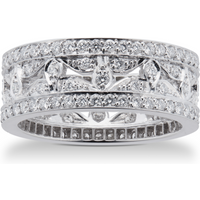 shop for Mappin & Webb Empress 18ct White Gold 0.95cttw Diamond Band Ring at Shopo