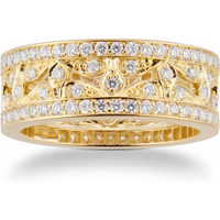 shop for Mappin & Webb Empress 18ct Yellow Gold 0.95cttw Diamond Band Ring at Shopo