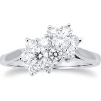 shop for Platinum 1.02ct Flower Cluster Ring at Shopo