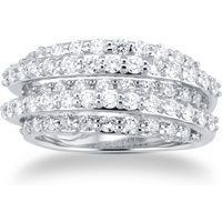 shop for 18ct White Gold 1.77ct Diamond 5 Row Dress Ring at Shopo