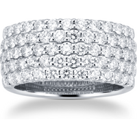18ct White Gold 2.07ct 5 Row Eternity Ring