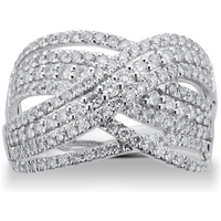 shop for Brilliant Cut 1.00 Carat Total Weight Diamond Wrap Ring i ... at Shopo