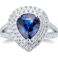 shop for 18ct White Gold Sapphire & Diamond Ring at Shopo