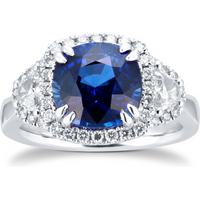 shop for Platinum Sapphire & Diamond Ring at Shopo