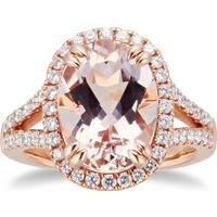 shop for 18ct Rose Gold Morganite & Diamond Ring at Shopo