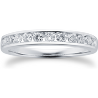 shop for Brilliant Cut 0.50ct Channel Set Half Eternity Ring In 9c ... at Shopo