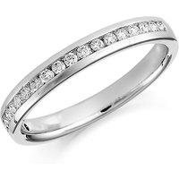 shop for Platinum 0.20ct Round Brilliant Cut Channel Set Half Eternity Ring at Shopo