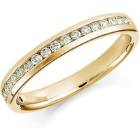 Image of 18ct Yellow Gold 0.30ct Round Brilliant Cut Channel Set Half Eternity Ring