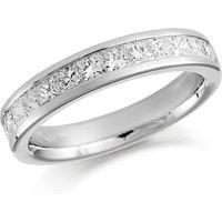 shop for Platinum 0.75ct Princess Cut Channel Set Half Eternity Ring at Shopo