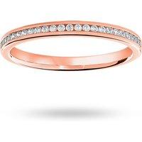 18 Carat Rose Gold 0.12 Carat Brilliant Cut Half Eternity Ring