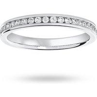 18 Carat White Gold 0.25 Carat Brilliant Cut Half Eternity Ring