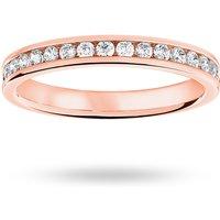 18 Carat Rose Gold 0.33 Carat Brilliant Cut Half Eternity Ring