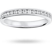 18 Carat White Gold 0.33 Carat Brilliant Cut Half Eternity Ring