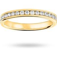 9 Carat Yellow Gold 0.33 Carat Brilliant Cut Half Eternity Ring