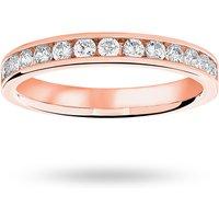 18 Carat Rose Gold 0.50 Carat Brilliant Cut Half Eternity Ring