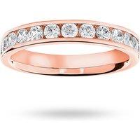 18 Carat Rose Gold 0.75 Carat Brilliant Cut Half Eternity Ring