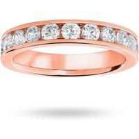18 Carat Rose Gold 1.00 Carat Brilliant Cut Half Eternity Ring