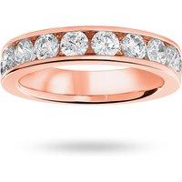 18 Carat Rose Gold 1.50 Carat Brilliant Cut Half Eternity Ring