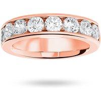 18 Carat Rose Gold 1.85 Carat Brilliant Cut Half Eternity Ring