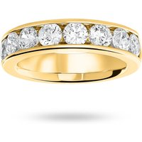 9 Carat Yellow Gold 1.85 Carat Brilliant Cut Half Eternity Ring
