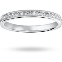18 Carat White Gold 0.33 Carat Princess Cut Half Eternity Ring