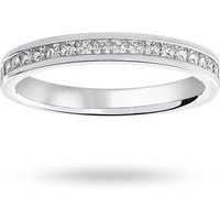 18 Carat White Gold 0.50 Carat Princess Cut Half Eternity Ring