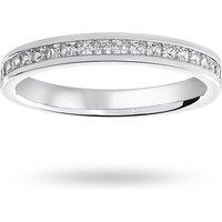 18 Carat White Gold 0.50 Carat Princess Cut Channel Set Half Eternity Ring